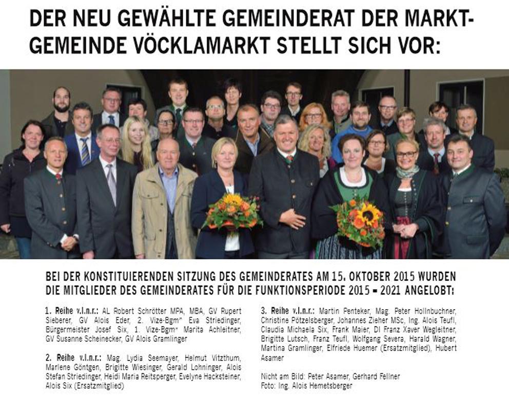 Gemeinderäte 2015